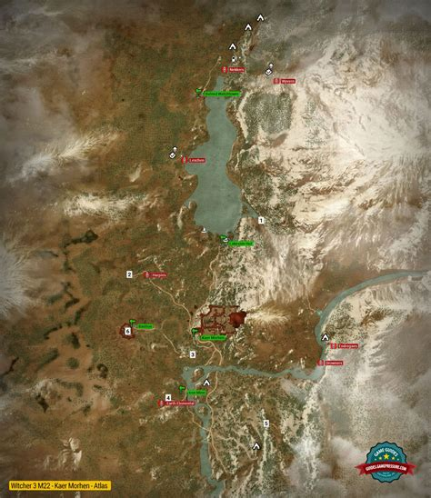 all the important locations throughout the quest map of important locations in kaer morhen m22 the