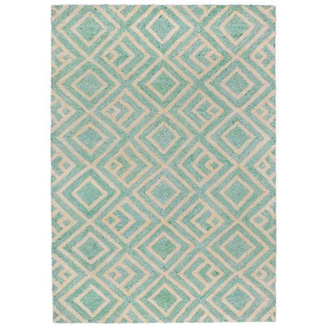 Raleigh Hermetic Aqua 8 Ft 3 In X 11 Ft 6 In Rectangle Aqua Outdoor Rug