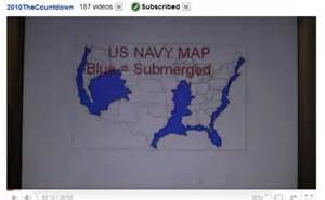 us navy map of flooded future america earth change maps
