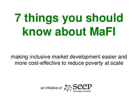 7 Things You Should About by Seven Things You Should About Mafi