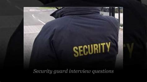 security guard questions and answers