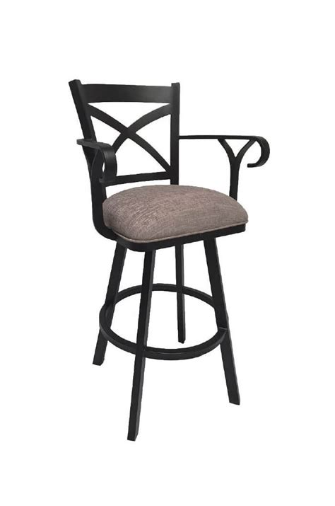 Swivel Bar Stool With Arms Buy Callee Edison Swivel Stool W Cross Back Design Free Shipping