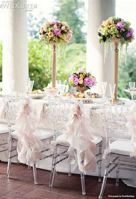 Stylish Ivory Wedding Reception Chair decorations Archives