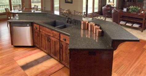 Island Kitchen Bar island counter with raised bar kitchen and dining room