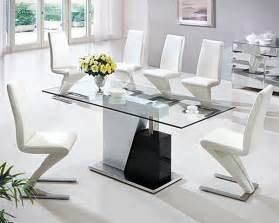 White Glass Top Dining Table Black And White Dining Table With Glass Top Decoist