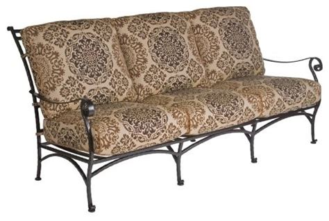 wrought iron outdoor sofa o w lee san cristobal wrought iron sofa traditional