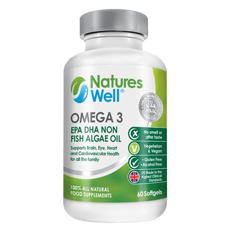 Algae Pills To Detox by Omega 3 Epa Dha Non Fish Algae 100 Halal