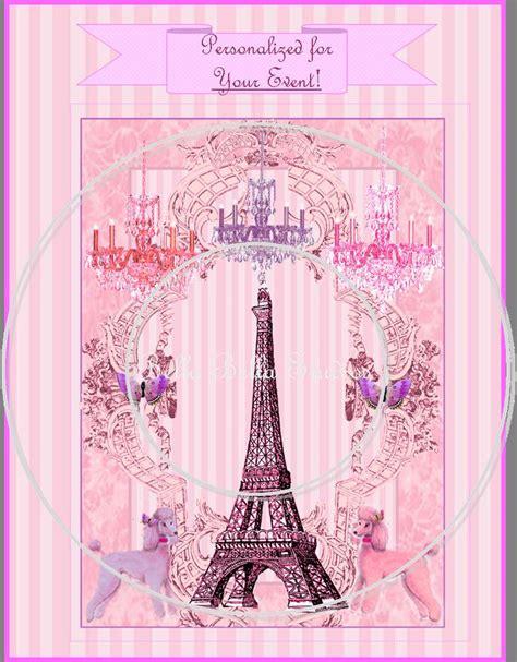 printable eiffel tower birthday invitations paris poodle and the eiffel tower printable custom party