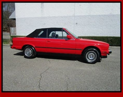 1988 BMW 325i Convertible Red Convertible Automatic for