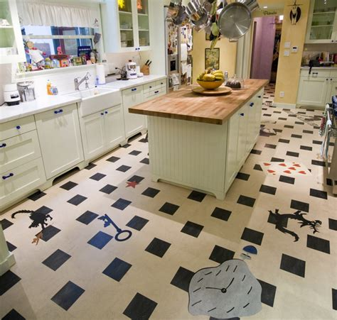 Decor Tiles And Floors by Linoleum Kitchen Crazy Fun Contemporary Kitchen