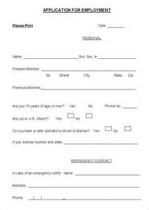 Employment Application Template Pdf by Employment Application Templates 10 Free Word Pdf