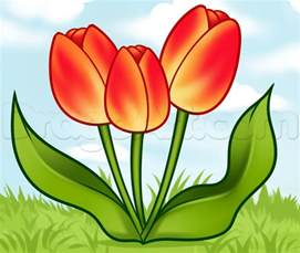 spring pictures to draw how to draw spring tulips step by step flowers pop