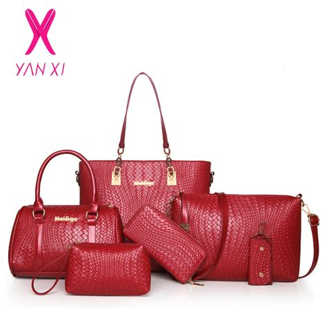 Fashion Bags Set 3in1 3 in 1 fashion luxury designer crocodile pu leather tote shoulder satchel messenger clutches