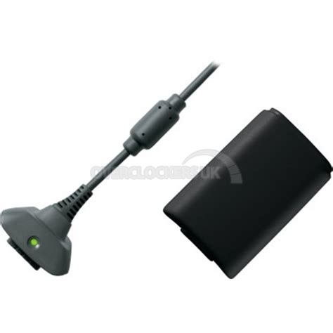 Xbox360 Charge Kit xbox 360 play charge kit black b4y 00037 ocuk