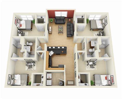 Sims Mansion Floor Plans by Planos Para Apartamentos Con 4 Habitaciones