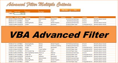 excel 2013 advanced filter tutorial excel vba advanced filter unique values advanced