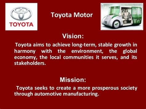 toyota of mission toyota motor vision toyota aims