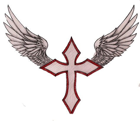 cross with wings clipart clipart suggest