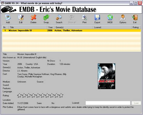 print to excel file free software to manage movies and music