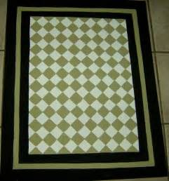 green and black floorcloth country painted