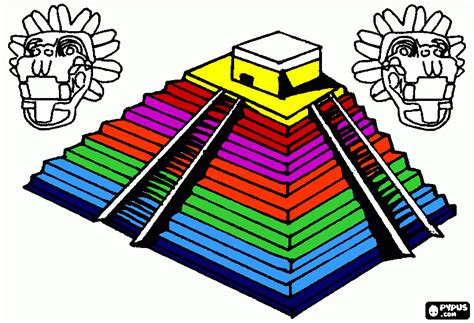 imagenes aztecas para imprimir pir 225 mide chiche para colorear pir 225 mide chiche para imprimir