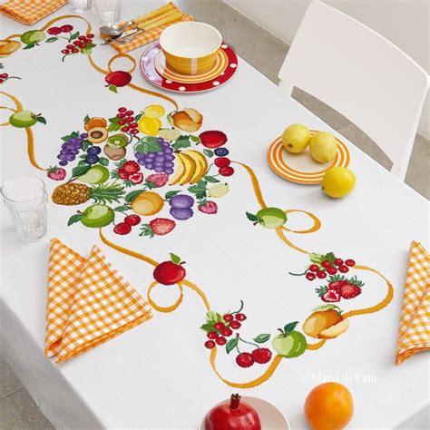 disegni punto croce per tovaglie da tavola tovaglia da ricamare a punto croce frutta di fata