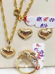 Details about solid 18k saudi gold jewelry set necklace earrings