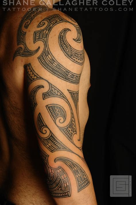 3 4 sleeve tattoo designs maori polynesian maori 3 4 sleeve