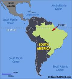 south america brazil map map of brazil facts information beautiful world