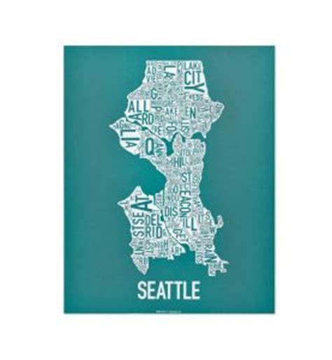 seattle map neighborhoods poster seattle neighborhood type map posters prints made in