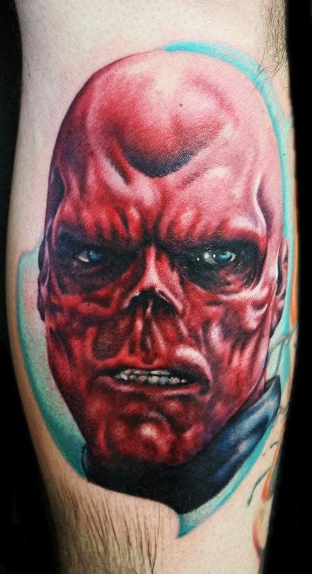 red skull tattoo human canvas tattoos skull skull captain