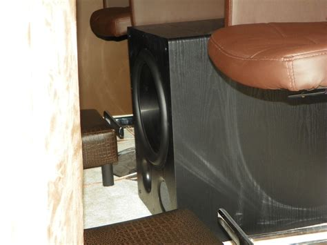 subwoofer behind couch pdominguez s home theater gallery home theater 70 photos