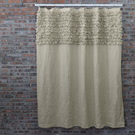 linen ruffle curtain gray linen ruffle shower curtain curtain menzilperde net