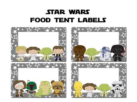 printable star wars name tags printable star wars food labels images