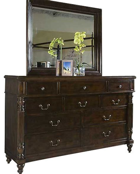 panama dresser with mirror tropical
