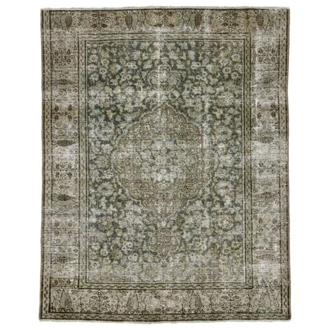 industrial style rugs distressed antique tabriz rug with modern industrial style for sale at 1stdibs