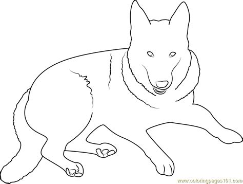 german shepherd dog coloring page free dog coloring