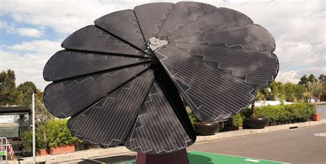 Solar Panel Flowers Charge By Day And Light Up At by What Does The Smartflower Cost As A New Option For