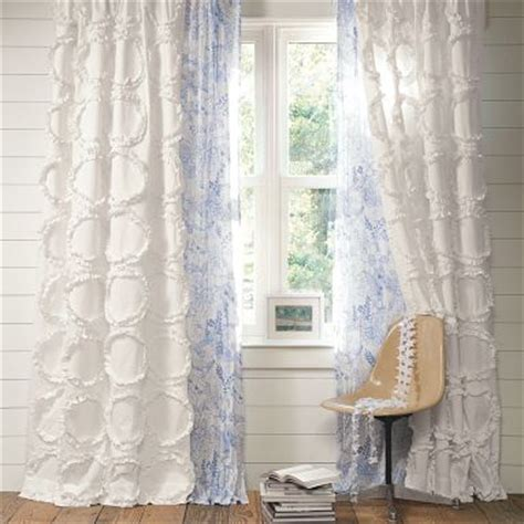 pottery barn ruffle curtains are you decorating like a teenager the decorologist
