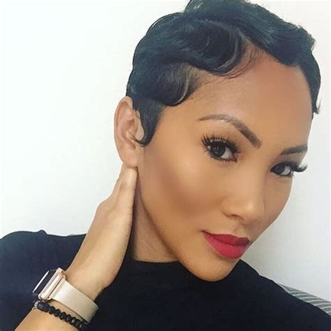 kiesha cole s hort fingerwave curly hairstyles on pinterest 30 glamorous finger wave styles for any hair length