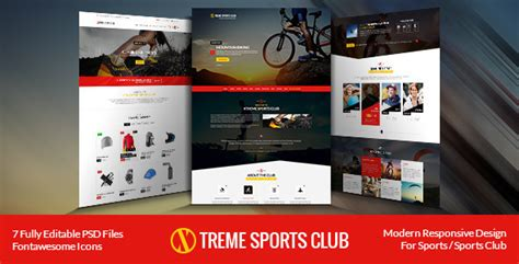 Xtreme Sports Club Html Template Themeforest School Club Website Template