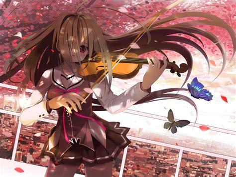 anime wallpaper violin anime girl sad with violin anime violin wallpaper girl