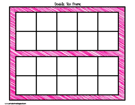 free double ten frame worksheets for kindergarten 6 best