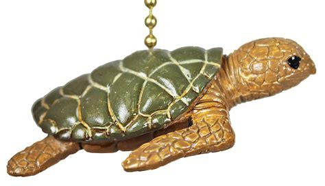 tropical reef sea turtle tiki ceiling fan light pull