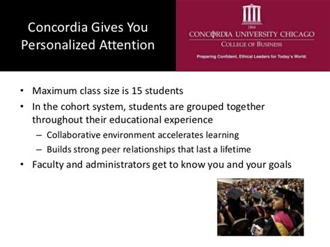 Concordia Mba Chicago by A Concordia Chicago Mba Or On Cus