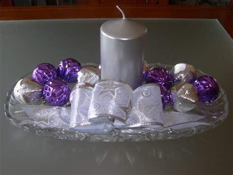 decoracion navidena plata  morado dale detalles