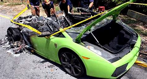 lamborghini owner wanted to warm up his car in malaysia
