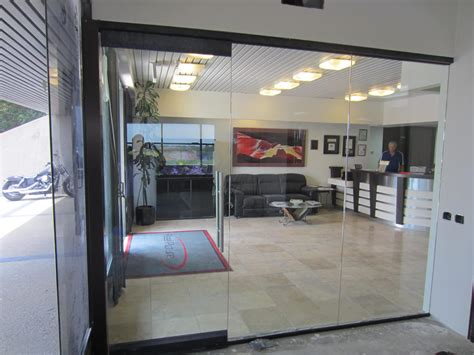 Glass office wall installation patriot glass and mirror san diego ca