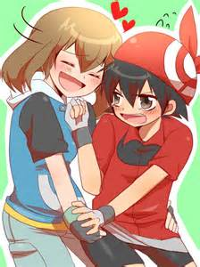 Pokemon may and ash kiss i can see this may steals