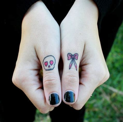 female finger tattoos designs 50 cool skull tattoos designs pretty designs